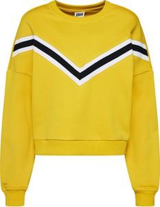 Żółta bluza Urban Classics z dresówki krótka
