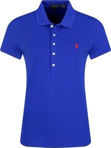 Niebieska bluzka POLO RALPH LAUREN z kołnierzykiem