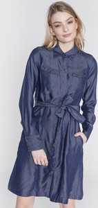 Sukienka G-Star Raw z długim rękawem koszulowa w stylu casual