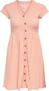 Sukienka Only z dekoltem w kształcie litery v w stylu casual z krótkim rękawem