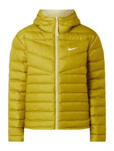 Żółta kurtka Nike krótka w stylu casual