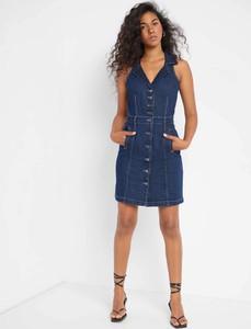 Sukienka ORSAY z dekoltem w kształcie litery v z jeansu mini