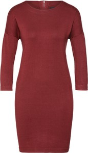 Czerwona sukienka Vero Moda z dżerseju z długim rękawem mini