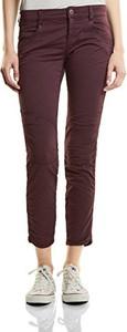 Bordowe spodnie STREET ONE