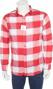 Czerwona koszula Yfl Reserved z długim rękawem