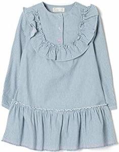 Niebieska sukienka dziewczęca amazon.de z dzianiny