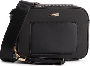 Czarna torebka Wittchen na ramię w stylu casual