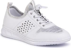 Buty sportowe Rieker sznurowane ze skóry ekologicznej