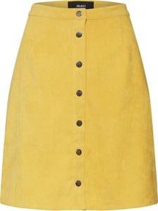Żółta spódnica Object w stylu casual