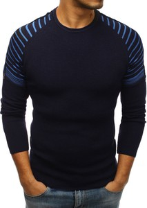 Niebieski sweter Dstreet z dzianiny
