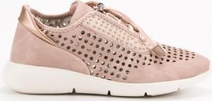 Różowe buty sportowe Webhiddenbrand z płaską podeszwą