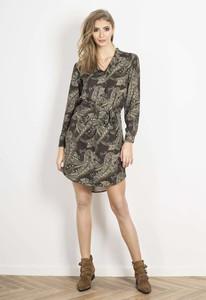 Sukienka Wow Point mini koszulowa z dekoltem w kształcie litery v