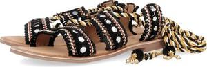 Czarne sandały GIOSEPPO ze skóry