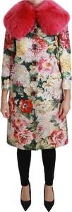 Różowy płaszcz Dolce & Gabbana z jedwabiu w stylu casual