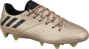 Złote buty sportowe Adidas w sportowym stylu