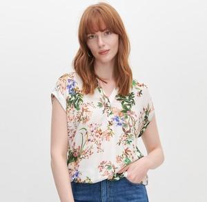 Bluzka Reserved w stylu casual z krótkim rękawem