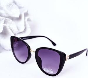 Czarne okulary damskie Prius