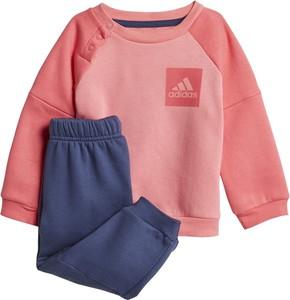 Dres dziecięcy Adidas dla dziewczynek z dzianiny