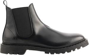 Czarne buty zimowe Premiata ze skóry