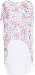 Różowa sukienka Fokus koszulowa midi z tkaniny