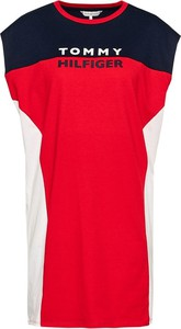 Sukienka Tommy Hilfiger mini z okrągłym dekoltem prosta