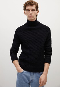 Czarny sweter Mango Man w stylu casual