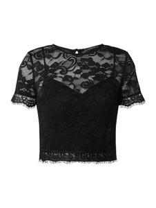 Czarna bluzka Guess z krótkim rękawem
