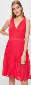 Czerwona sukienka Morgan z tkaniny mini kopertowa