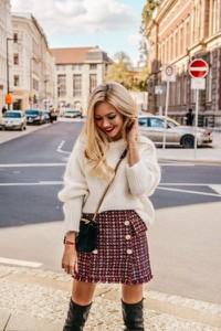 Brązowa spódnica chantel.pl w stylu casual