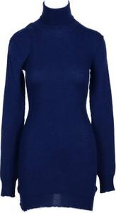Niebieska sukienka Ben Taverniti Unravel Project* z golfem mini w stylu casual