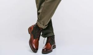 Brązowe buty zimowe Domeno