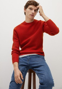 Czerwony sweter Mango Man
