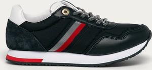 Czarne buty sportowe Tommy Hilfiger z płaską podeszwą