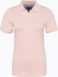 Różowy t-shirt Franco Callegari w sportowym stylu z kołnierzykiem z bawełny