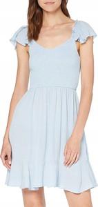 Niebieska sukienka New Look bandażowa mini