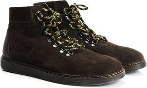 Buty zimowe ubierzsie.com w stylu casual sznurowane ze skóry