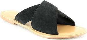 Klapki Manoukian Shoes z płaską podeszwą