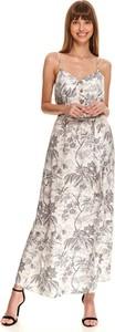 Sukienka Top Secret z tkaniny z dekoltem w kształcie litery v na ramiączkach