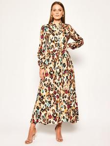 Sukienka Liu-Jo koszulowa w stylu boho z długim rękawem