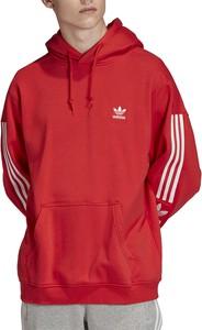 Czerwona bluza Adidas z plaru