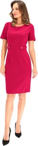 Sukienka Lavard ołówkowa z tkaniny z okrągłym dekoltem