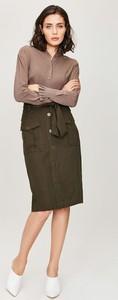 Spódnica Monnari midi w militarnym stylu