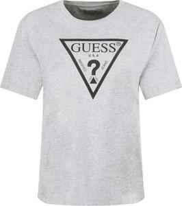 T-shirt Guess Jeans z okrągłym dekoltem z krótkim rękawem w stylu casual