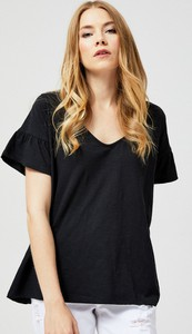 T-shirt Moodo z krótkim rękawem w stylu casual