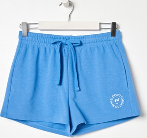 Niebieskie szorty Sinsay z dresówki