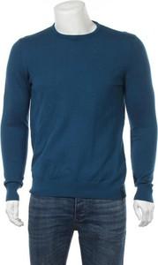 Niebieski sweter Calvin Klein z okrągłym dekoltem w stylu casual