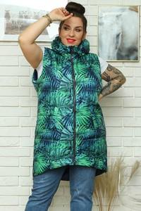 Zielona kamizelka KARKO z tkaniny