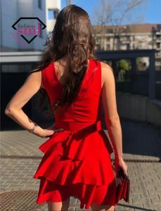 Sukienka Smlfashion.pl z długim rękawem mini
