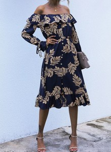Sukienka Cikelly w stylu boho z szyfonu