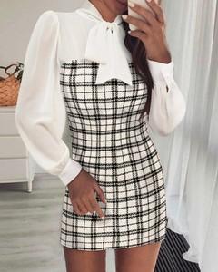 Sukienka Kendallme dopasowana w stylu casual z długim rękawem